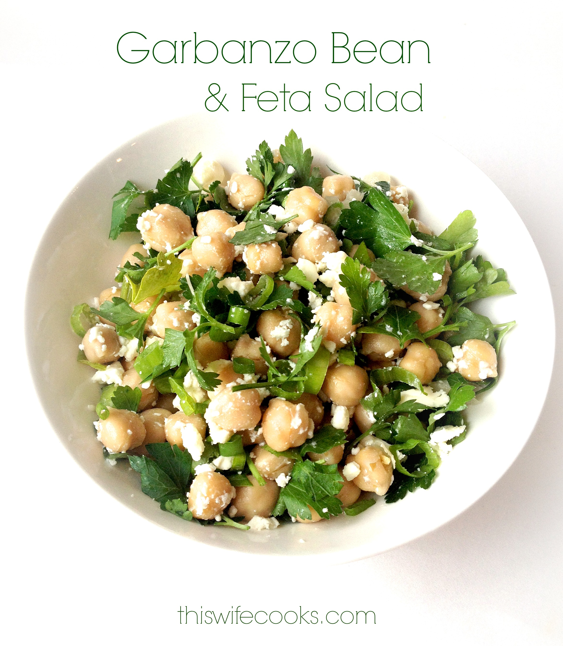 Garbanzo Bean and Feta Salad | This Wife Cooks